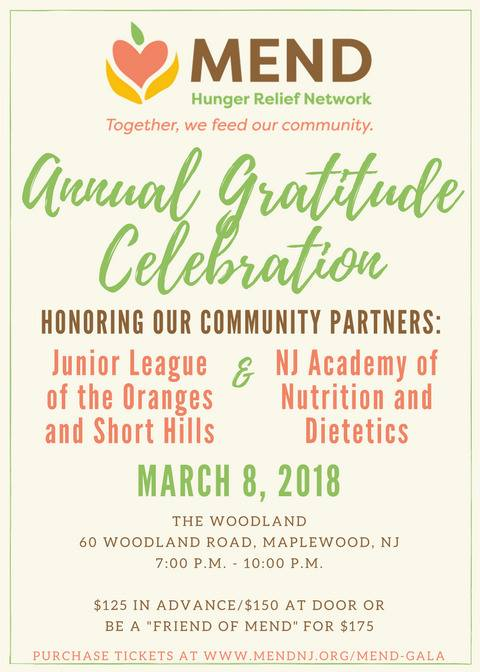 annual gratitude celebration set for march 8th mend hunger relief
